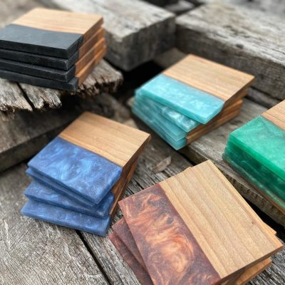 Live Edge Resin Coasters